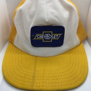 Other - Vintage Chevy Patch Trucker Snapback Mesh Hat USA